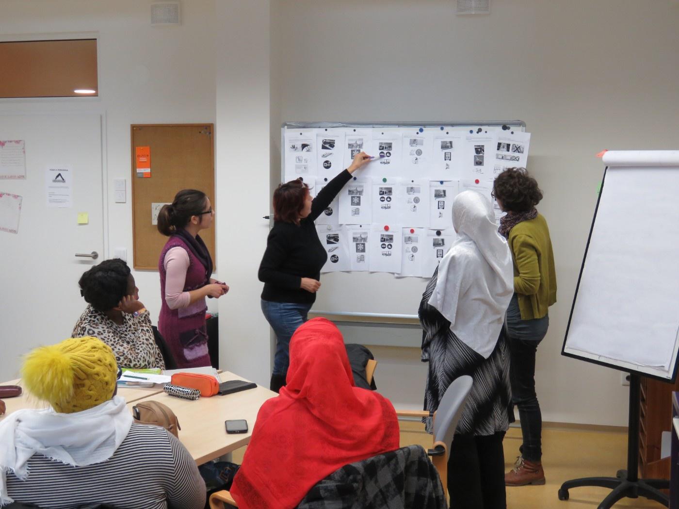 Workshop mit Migrantinnen