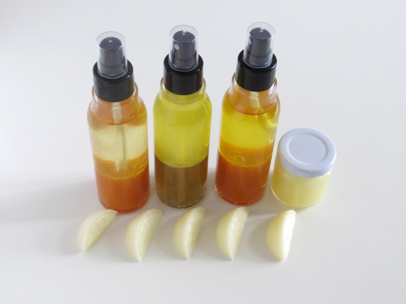 Deo-Zerstäuberflaschen und Cremetiegel