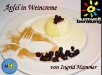 Äpfel in Weincreme