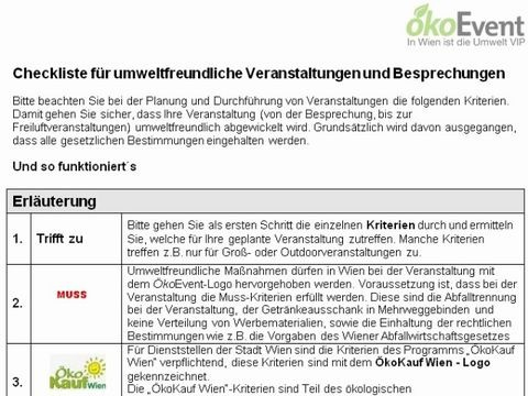 Checkliste OekoEvent