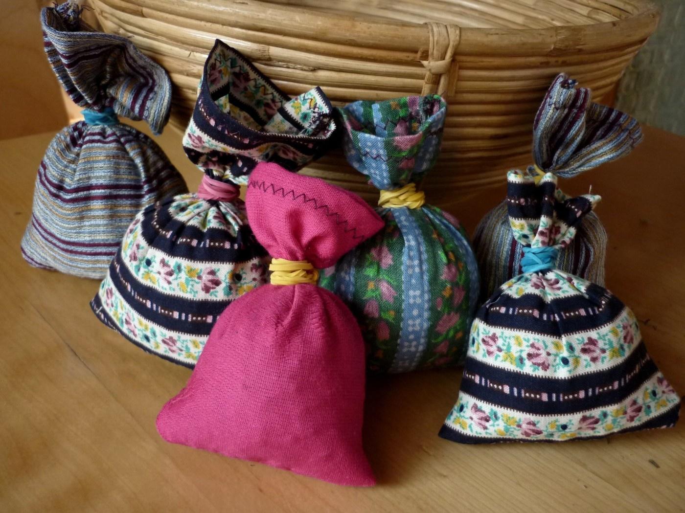 selbstgemachte Lavendelsäckchen