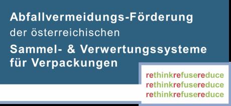Logo der Abfallvermeidungs-Förderung der österreichscihen Sammel- & Verwertungssysteme für Verpackungen